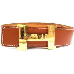 Brown On Mustard 42mm H Reversible Size 110 Belt